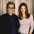 Mario Kassar and Cindy Crawford