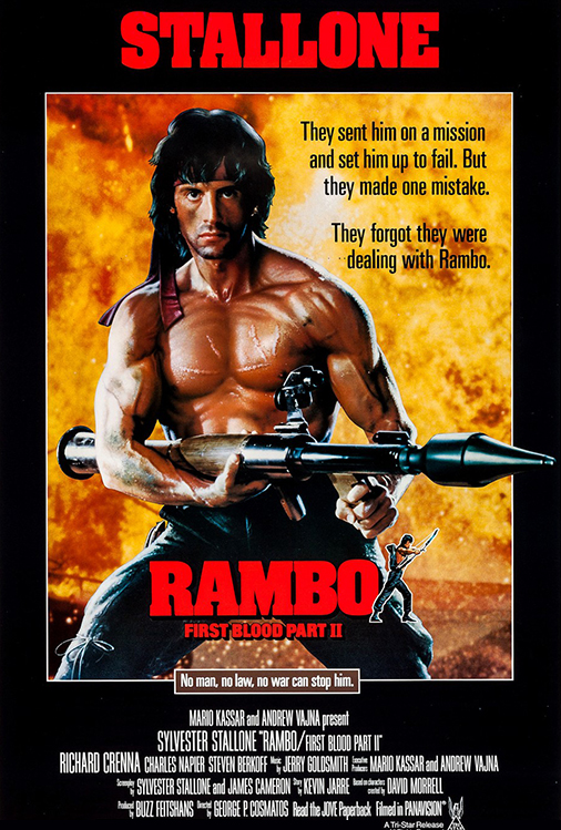 Poster for Rambo: First Blood Part II